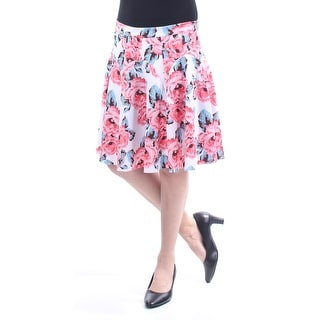 Link to INC Womens Pink Floral Knee Length A-Line Skirt  Size 6 Similar Items in Skirts