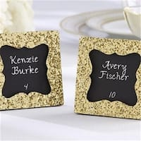 All That Glitters Gold Glitter Frame with Chalkboard Insert