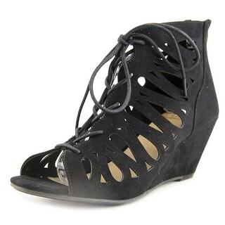Material Girl Tharlie Open Toe Synthetic Wedge Heel