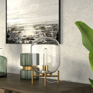 Link to Carson Carrington Sagen Glass and Brass Table Lamp Similar Items in Table Lamps