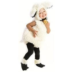 Kids White Lamb Jumpsuit Fuzzy Halloween Costume