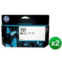 HP 727 130-ml Matte Black DesignJet Ink Cartridge (B3P22A) (2-Pack)