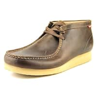 Clarks Stinson Hi Men  Moc Toe Leather Brown Chukka Boot