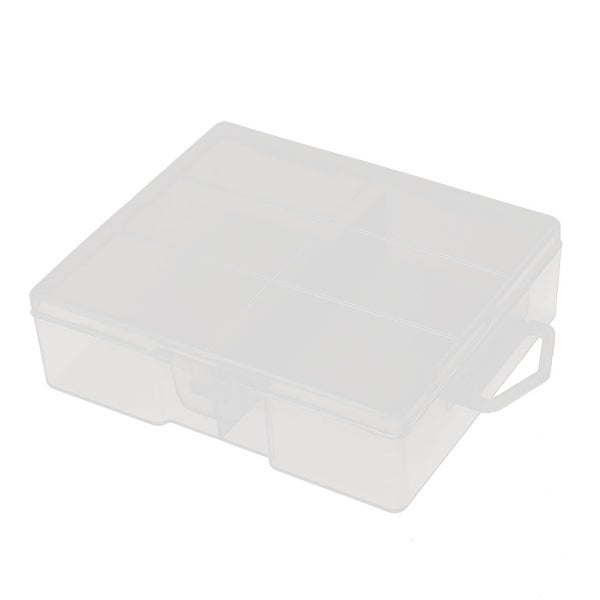 Transparent Storage Case Hard Plastic Battery Holder Organizer for AA Batteries