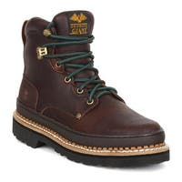 "Georgia Boot Men's G62 6"" Georgia Giant Boot Soggy Brown Full Grain Leather"