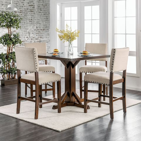 Furniture of America Verdorn Transitional Counter Height Stools (Set of 2)
