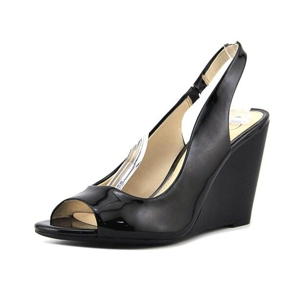 3a6bba81a76 Shop Jessica Simpson Gaela Women Open Toe Synthetic Black Wedge ...