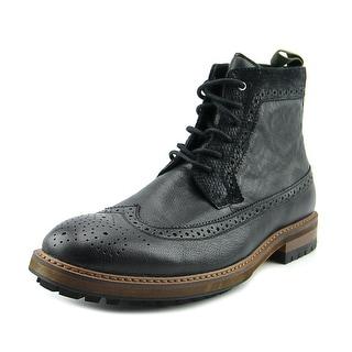 Aldo Streller Men  Round Toe Leather Black Desert Boot