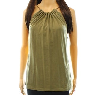 Lauren Ralph Lauren NEW Green Women's Size XL Pleated Cami Blouse