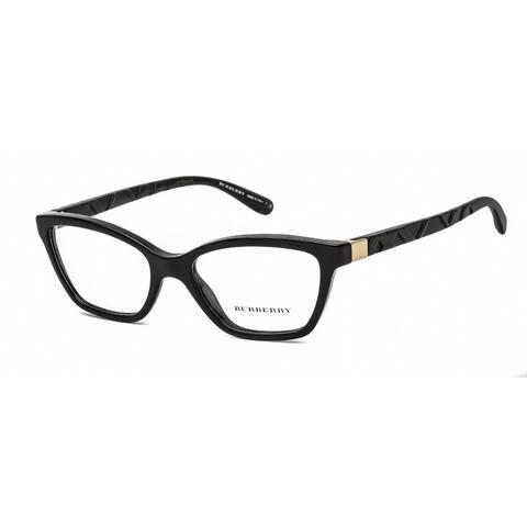 Black Clear Burberry Demo Prescription Frames - L