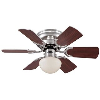 Westinghouse 7213300 Petite Single Light 6 Blade Hugger Ceiling Fan with Reversible Motor, Reversible Blades and Light Kit