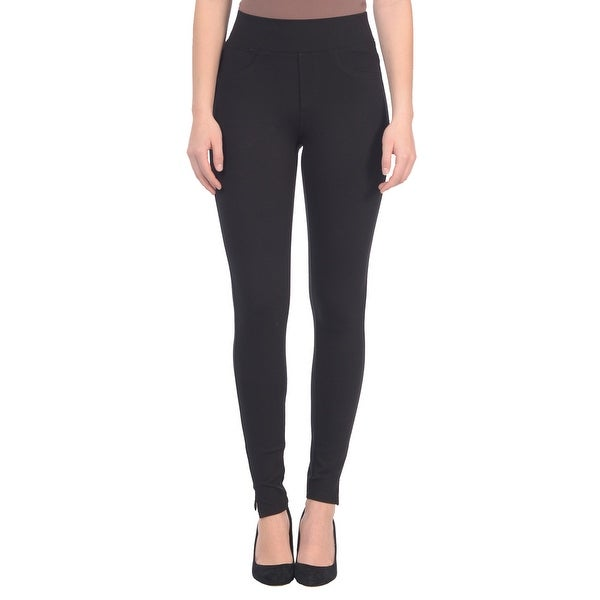 Lola Jeans Anna-JBLK, Mid Rise Ponte Jersey Pull On Ankle