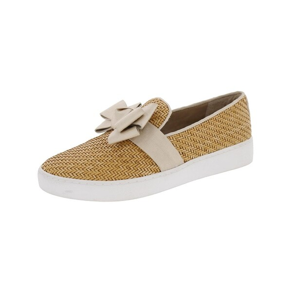 Michael Kors Womens Runway Loafers Woven Bow