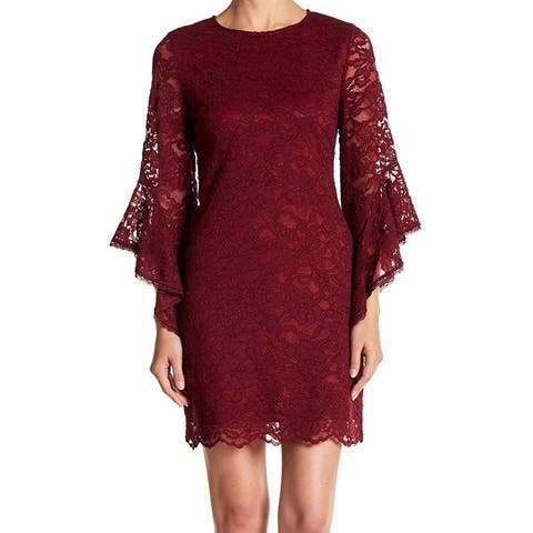 Laundry by Shelli Segal Lace Sheath Dress, Red, 2