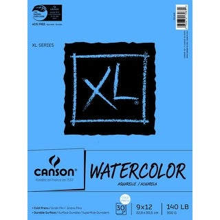 Canson XL Heavy Weight Watercolor Pad, 140 lb, 9 X 12 in, 30 Sheets