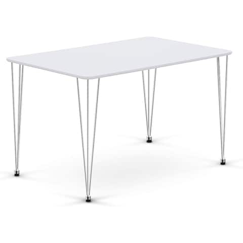 """Ivinta Modern Wood Rectangle White Dining Table for 4/6 Dining Room - 48""""x30""""x29"""""""
