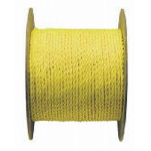"Mibro 300521TV Twisted Polypropylene Rope, Yellow, 1/4"" x 1200'"