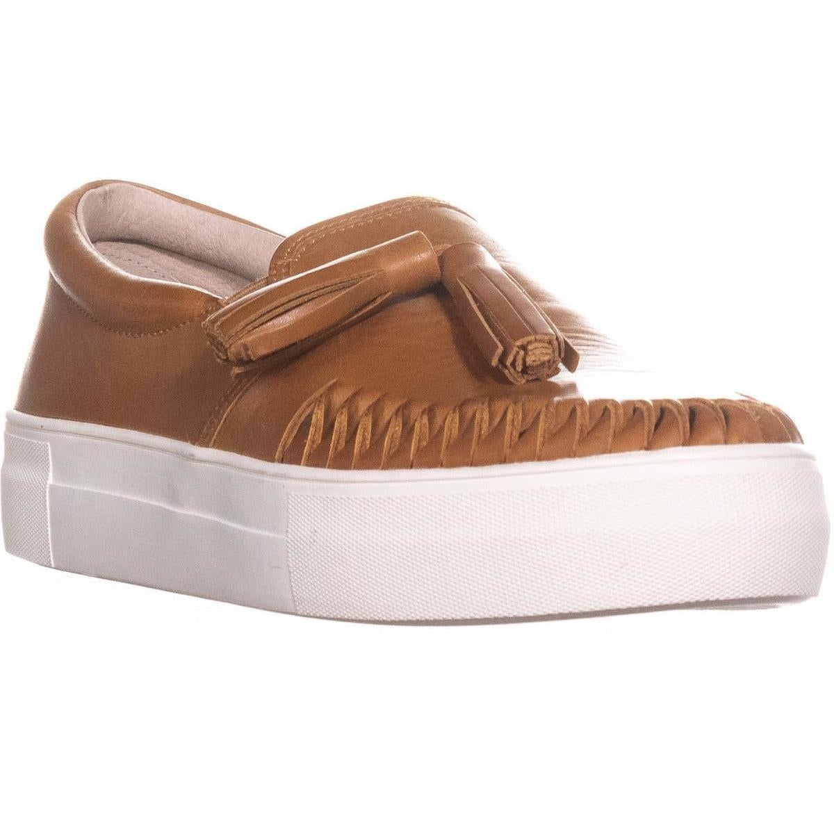 Vince Camuto Women/'s Kayleena Slip On Leather Fashion Sneakers Equestrian Brown