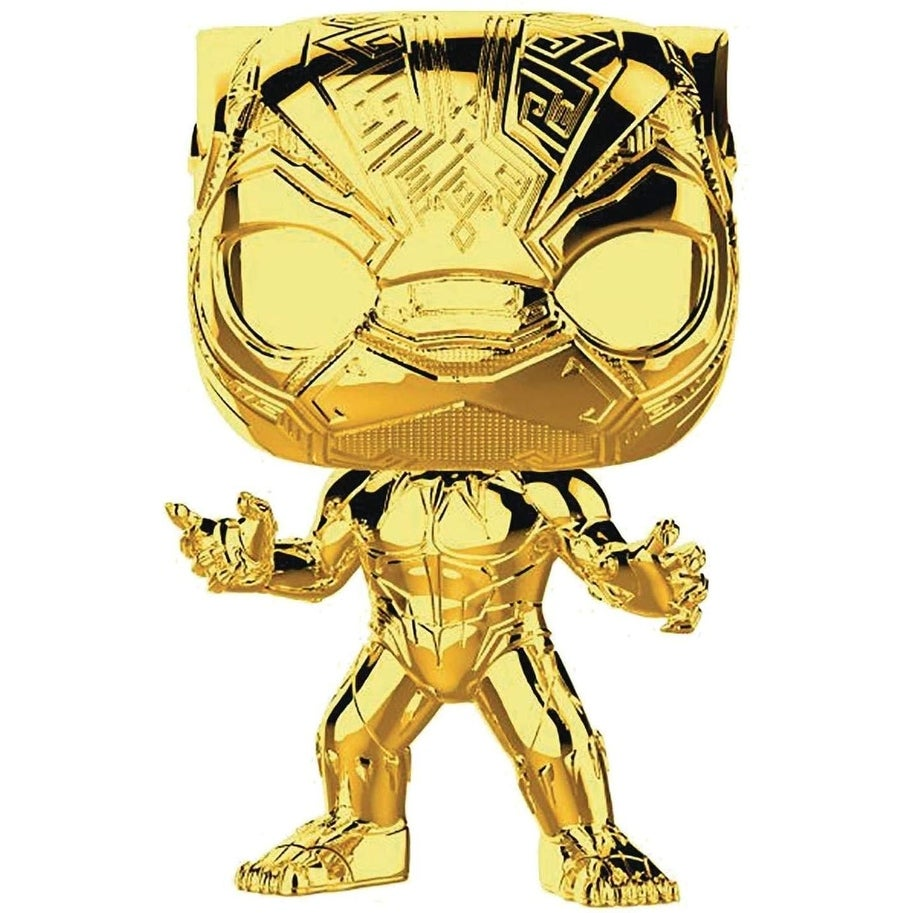 Marvel Studios 10 Funko POP Vinyl Figure (Gold Chrome Black Panther)