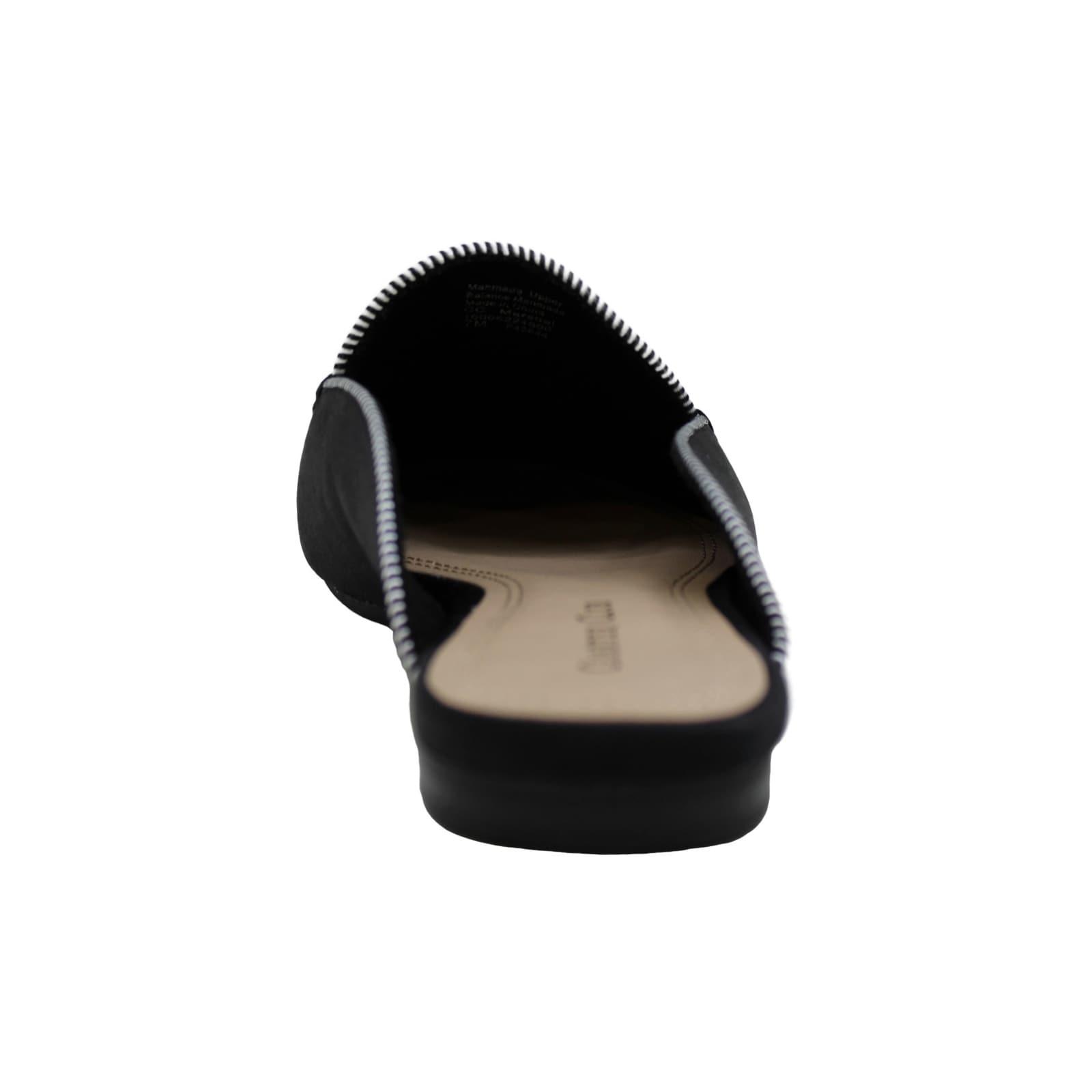 Size 5.0 Black 1 Charter Club Womens marshel Fabric Almond Toe Mules