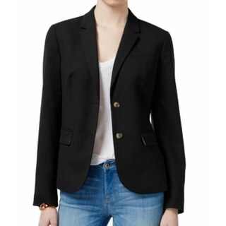 Tommy Hilfiger NEW Black Women's Size 2 Two-Button Notch Collar Blazer