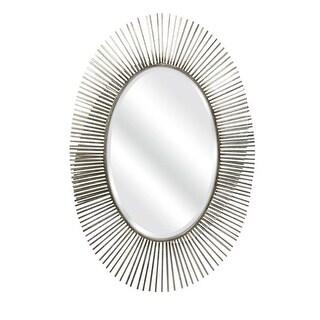 Navio Leaf Abstract Wall Mirror, Silver - 43.5 x 29.5 x 2.5 in.