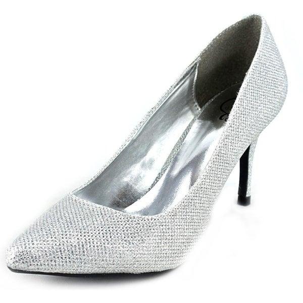 143 Girl Owanda Women Pointed Toe Canvas Silver Heels
