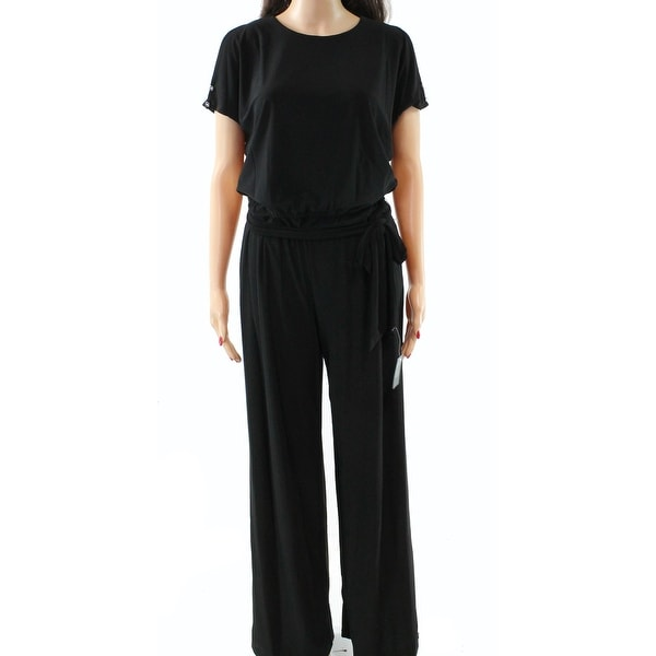 37d4f6c9e16 Shop Lauren by Ralph Lauren Women s Cold Shoulder Jumpsuit - Free Shipping  On Orders Over  45 - Overstock.com - 26908473