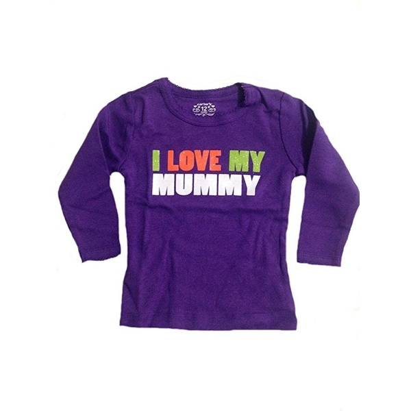 96205d4cea9 Shop Carter s Baby Girls  Purple Long Sleeve I Love Mummy Halloween Shirt -  12 Months - Free Shipping On Orders Over  45 - Overstock - 18304020