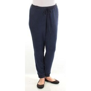 HIPPIE ROSE $22 Womens New 1409 Navy Lounge Casual Pants L Juniors B+B