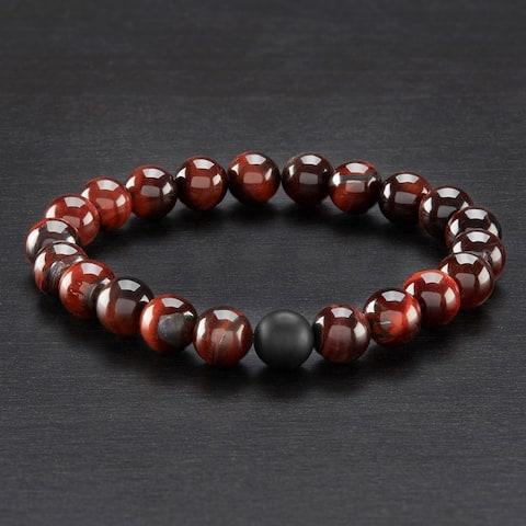 Crucible Natural Healing Stone Beaded Stretch Bracelet (10mm)