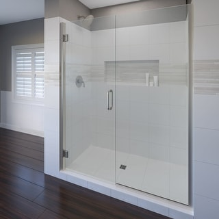 "Basco COPA35A4876CL  Coppia 76"" High x 48-9/16"" Wide Hinged Frameless Shower Door with Clear Glass"