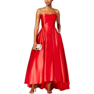 Betsy & Adam Womens Petites Evening Dress Satin Strapless