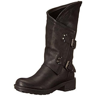 Coolway Womens Alida Motorcycle Boots Mid-Calf Pull On