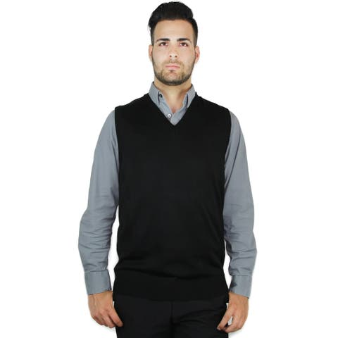 Men's Classic Solid Color Sweater Vest (SV-243)