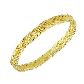 Link to Handmade Eternity Double Braid Weave Band Sterling Silver Ring (Thailand) Similar Items in Rings