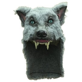 Grey Big Bad Wolf Helmet Mask Costume Accessory - standard - one size