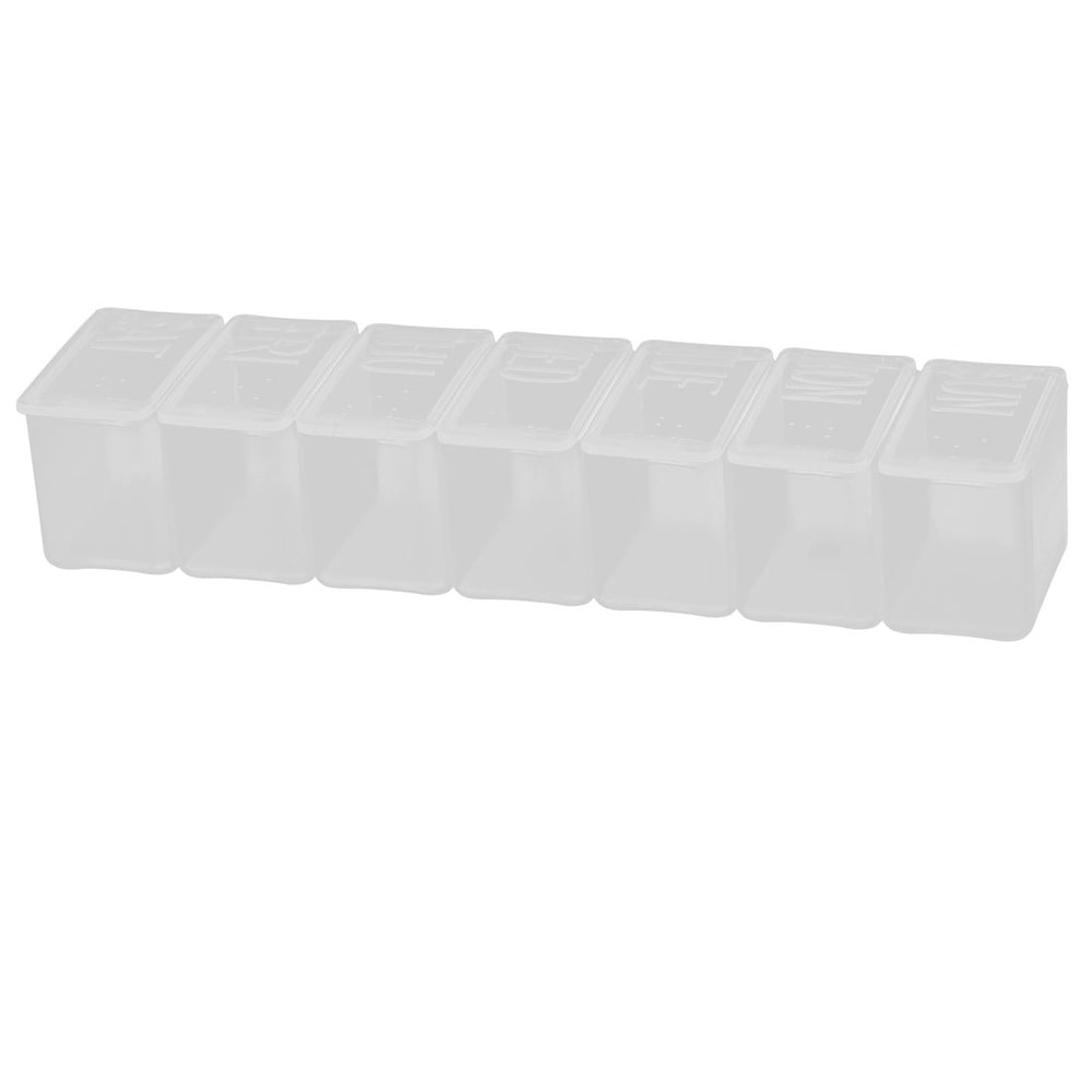 Drug Tablet Pill Medicine 7 Day Weekly Container Case Box Organizer Clear