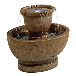 Design Toscano Richardson Oval Urns Cascading Garden Fountain: Grande - 30.5 x 20.5 x 28
