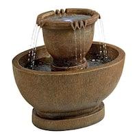 Design Toscano Richardson Oval Urns Cascading Garden Fountain: Large