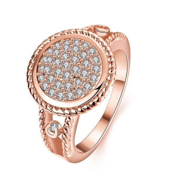 Rose Gold Circular Jewels Ring