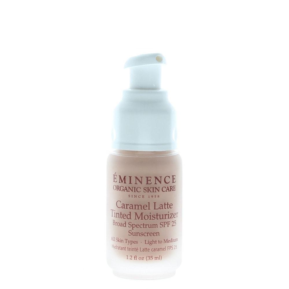 Eminence Caramel Latte Tinted Moisturizer Broad Spectrum SPF 25 Sunscreen (All Skin Types) No Box 1.2oz/35ml (Tinted Moisturizer)