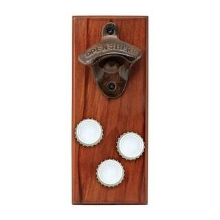 Sharper Image 9392382 8 x 0.81 x 3.18 in. Metal Bottle Opener - Brown