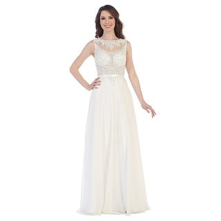 Beaded Lace Chiffon A-Line