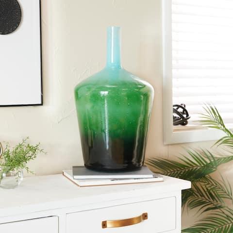 Green Glass Modern Vase