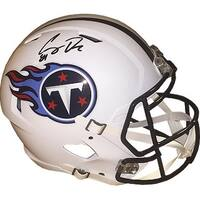 Corey Davis signed Tennessee Titans Riddell Full Size Speed Replica Helmet 84 JSA Hologram