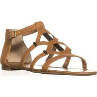 B35 Rodeo Strappy Flat Sandals, Cognac - 11 us