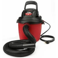 Shop-Vac 2036000 Plastic Tank Portable Wet/Dry Vac, 2.5 Gallon, 2.5 Peak HP
