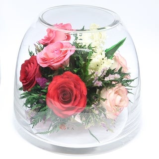 Preserved Roses Floral Arrangements and Centerpieces in Vase