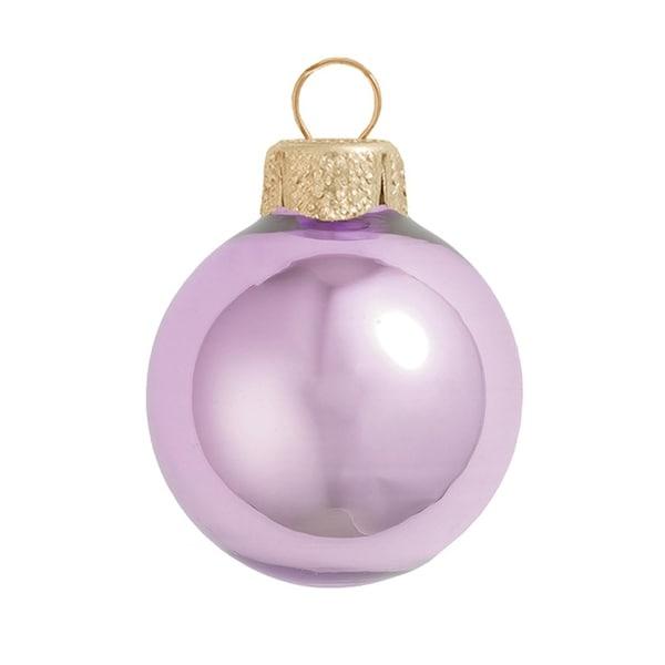 "40ct Pearl Soft Lavender Purple Glass Ball Christmas Ornaments 1.5"" (40mm)"